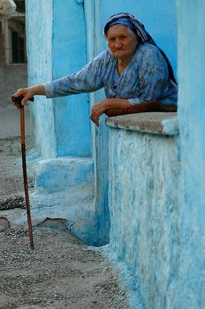 ANKARA, Turquie - OCT 2006 10 : Vieille femme turque   Banque d'images - 8749176