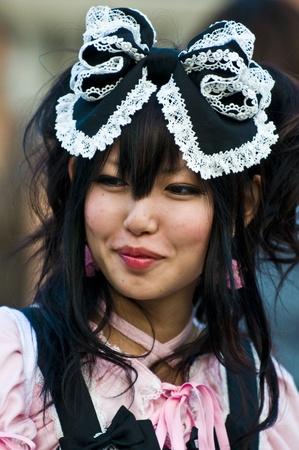 TOKYO - OCTOBER 31 2009  : Japanese girl celebrates Halloween on October 31 2009 in Tokyo Japan ,  Halloween has become popular in Japan in recent years Stock Photo - 9649422