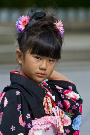 TOKYO - NOVEMBER 03 2009 : Japanese girl on November 03 2009 in Tokyo Japan ,Culture Day is a Japanese national holiday held annually  promoting Japanese culture Stock Photo - 9649416