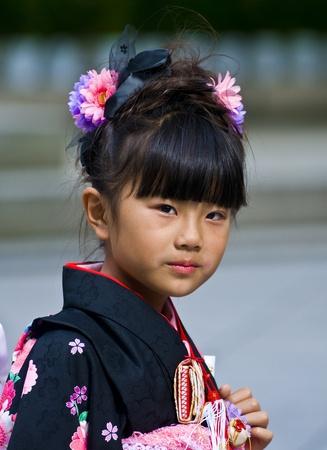 TOKYO - le 03 novembre 2009 : Fille japonaise sur le 03 novembre 2009 à Tokyo au Japon, jour de la Culture est une fête nationale japonaise tenue annuellement promouvoir la culture japonaise Banque d'images - 9649418