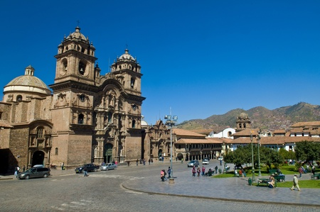 cusco: The  Plaza de Armas in Cusco , Peru - the photo was taken in May 26 2011
