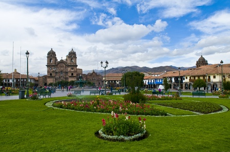 The  Plaza de Armas in Cusco , Peru - the photo was taken in May 26 2011