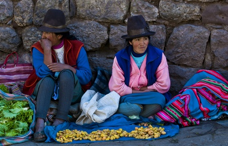 cusco: Cusco , Peru - May 27 : Peruvian women in a market in Cusco Peru , May 27 2011