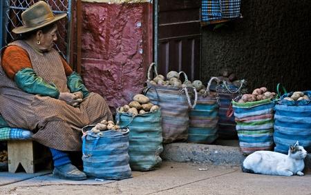 quechua: Cusco , Peru - May 27 : Peruvian woman in a market in Cusco Peru , May 27 2011