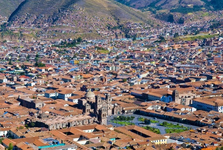 incan: Cusco Peru , May 27 2011 : View of the Peruvian city of Cusco the former capital of the Incan empire and
