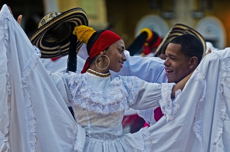 Catagena de Indias , Colombia - December 22 : Dancers in the celebration for the presentation of the new city symbol held in Cartagena de indias on December 22 2010 Editorial