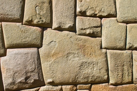 incan: a details on one of the Inca walls in Cusco Peru