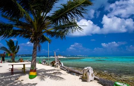 Plage tropicale sur l'île caribéenne de San Andres, Colombie Banque d'images - 10598496