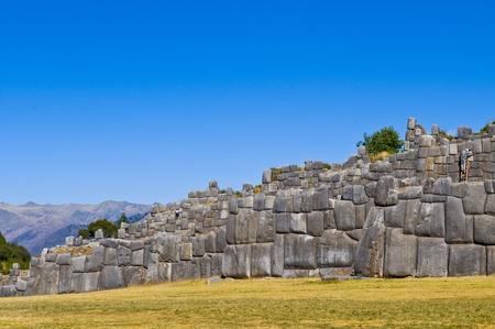 incan: Ancient Sacsayhuaman , Incan ruins outside of Cusco Peru