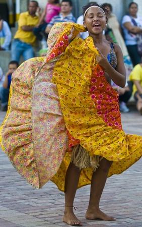 Catagena de Indias , Colombia - December 22 : Dancer in the celebration for the presentation of the new city symbol held in Cartagena de indias on December 22 2010