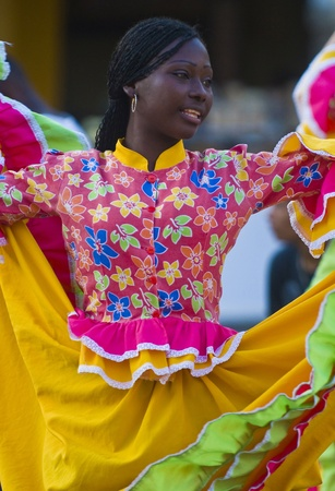 Catagena de Indias , Colombia - December 22 : Dancer in the celebration for the presentation of the new city symbol held in Cartagena de indias on December 22 2010