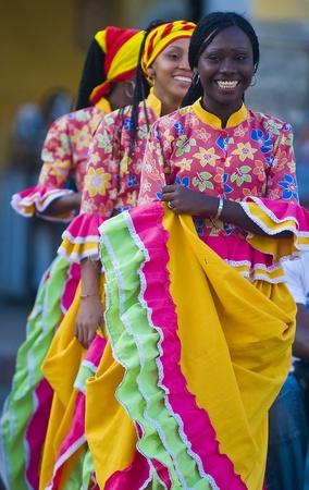Cartagena de Indias, Colombie - Décembre 22: Danseuses dans la célébration de la présentation du symbole de la ville nouvelle qui s'est tenue à Cartagena de Indias le 22 Décembre 2010 Banque d'images - 10591977
