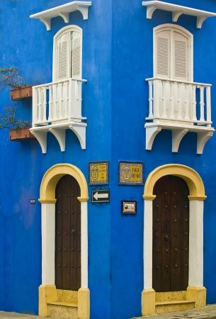 「カルタヘナデインディアス」の建築コロンビア 写真素材