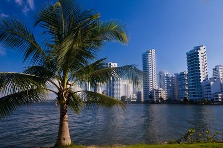 "Vue de ""Boca Grande"" dans ""Cartagena de Indias"" la Colombie Banque d'images - 10622392"