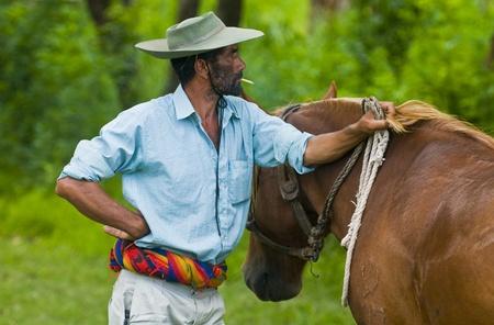southamerica: TACUAREMBO, URUGUAY - MAR 5 : Participant in the annual festival