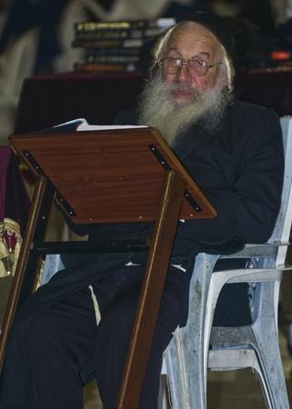 JERUSALEM - SEP 26 : Jewish old man prays during the penitential prayers the
