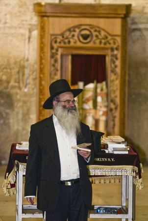 JERUSALEM - SEP 26 : Jewish man prays during the penitential prayers the
