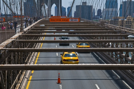 manhatan: NEW YORK - JUNE 30 2011 :The Brooklyn bridge in New York city Editorial