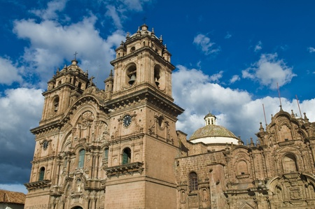 The cathadral in Plaza de armas in the center of Cusco Peru Stock Photo - 11045395