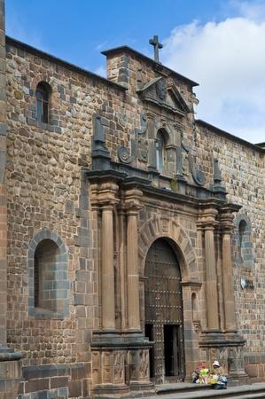 incan: The Santo Domingo church in Cusco Peru build on the ruins of the Incan temple of the sun (Coricancha) Editorial