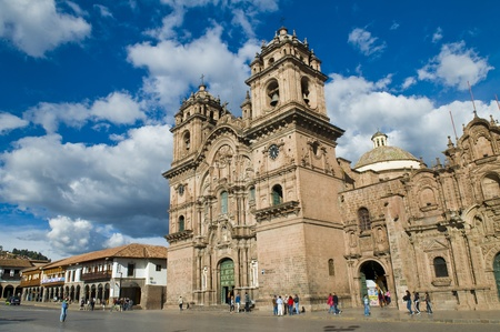 The cathadral in Cusco Pero Editorial