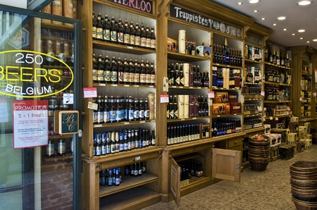 BRUSSELS - JULY 2 2011 : Beer store in the center Brussels Belgium  Stock Photo - 11026029
