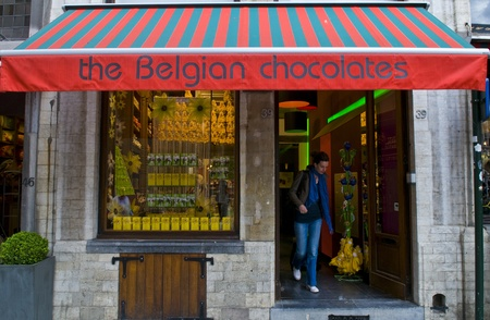 BRUSSELS - JULY 2 2011 : Chocolate store in the center Brussels Belgium  Stock Photo - 11314579