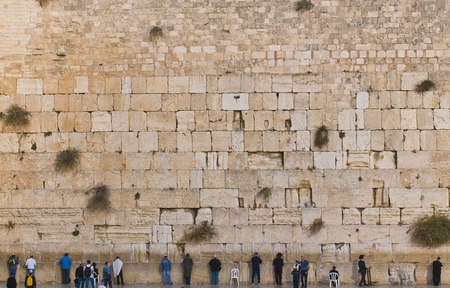 JEUSALEM - NOVEMBER 03 2011: The Westren wall an Important Jewish religious site located in the Old City of Jerusalem