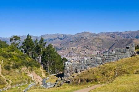 incan: Antica Sacsayhuaman, rovine inca di fuori di Cusco Per�