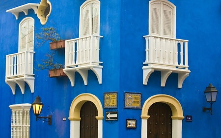 The architecture of  Cartagena , Colombia  Stock Photo