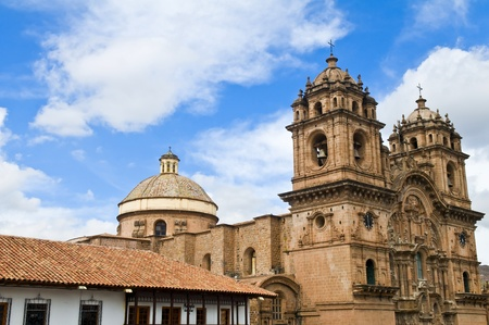 cusco: The cathadral in Cusco Pero Stock Photo
