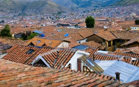 incan: Veduta della citt� peruviana di Cusco l'antica capitale dell'impero Inca e