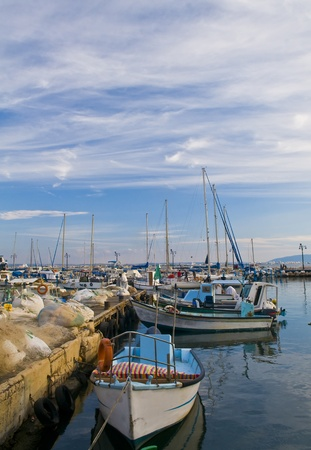 The historic port of Acre in north Israel photo