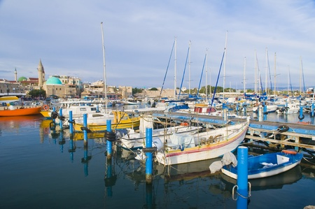 acre: The historic port of Acre in north Israel