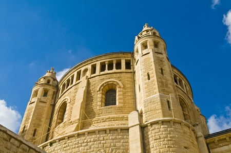 holyland: The Hagia Maria Sion church  in old  Jerusalem , Israel Stock Photo
