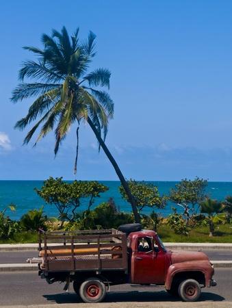 Camion local à Cartagena de Indias, Colombie Banque d'images - 11982231