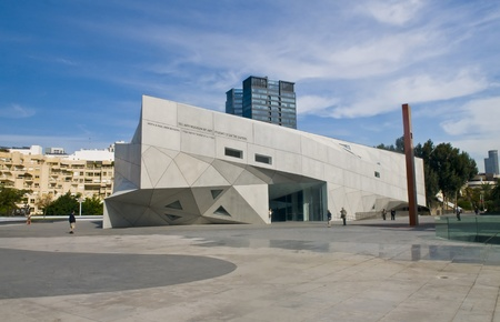 Tel Aviv , Israel - November 10 2011 : The new museum of art  Editorial