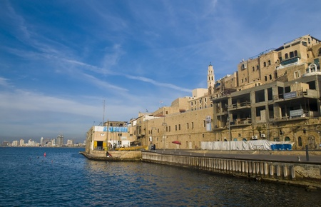 View of old historic Jaffa in Israel