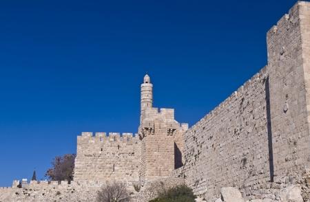 La tour de David dans la vieille ville de Jérusalem Banque d'images - 12732971