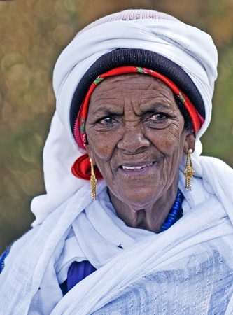 JERUSALEM - NOV 24 : Portrait of Ethiopian Jew woman during the