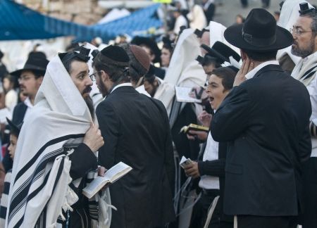 MERON , ISRAEL - MAY 10 : Orthodox Jews celebrates Lag Baomer in Bar Yochai tomb in Meron , Israel on May 10 2012 , Lag Baomer is a Jewish holiday in wich it is customary to light bonfire Editorial