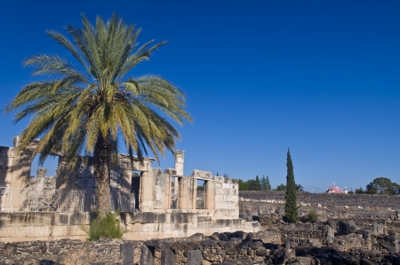 Ruins of the synagogue of Capernaum , Israel Stock Photo - 13704167