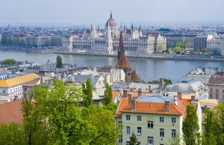 basillica: A view of Budapest from the Fisherman Stock Photo