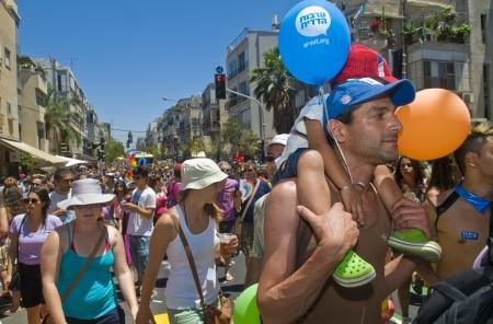 israelis: TEL AVIV , ISRAEL - JUNE 08  : An unidentified Israelis takes part in the annual Gay pride march in Tel Aviv on June 08 2012