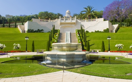 bahaullah: The Bahai gardens in Haifa north Israel