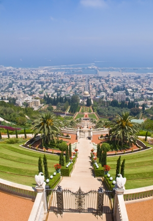 The Bahai gardens in Haifa north Israel photo