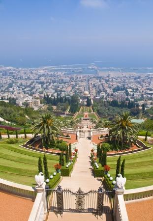 baha: The Bahai gardens in Haifa north Israel