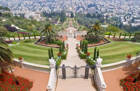 The Bahai gardens in Haifa north Israel Stock Photo - 14007905