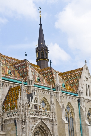 danuba: Matthias church at Buda castle in Budapest Hungary