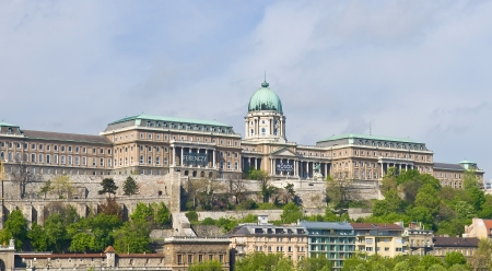 danuba: The Castle hill and the Royal palace in Budapest Hungary